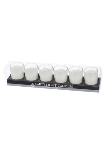 White Party Light Unscented Candles, Set of