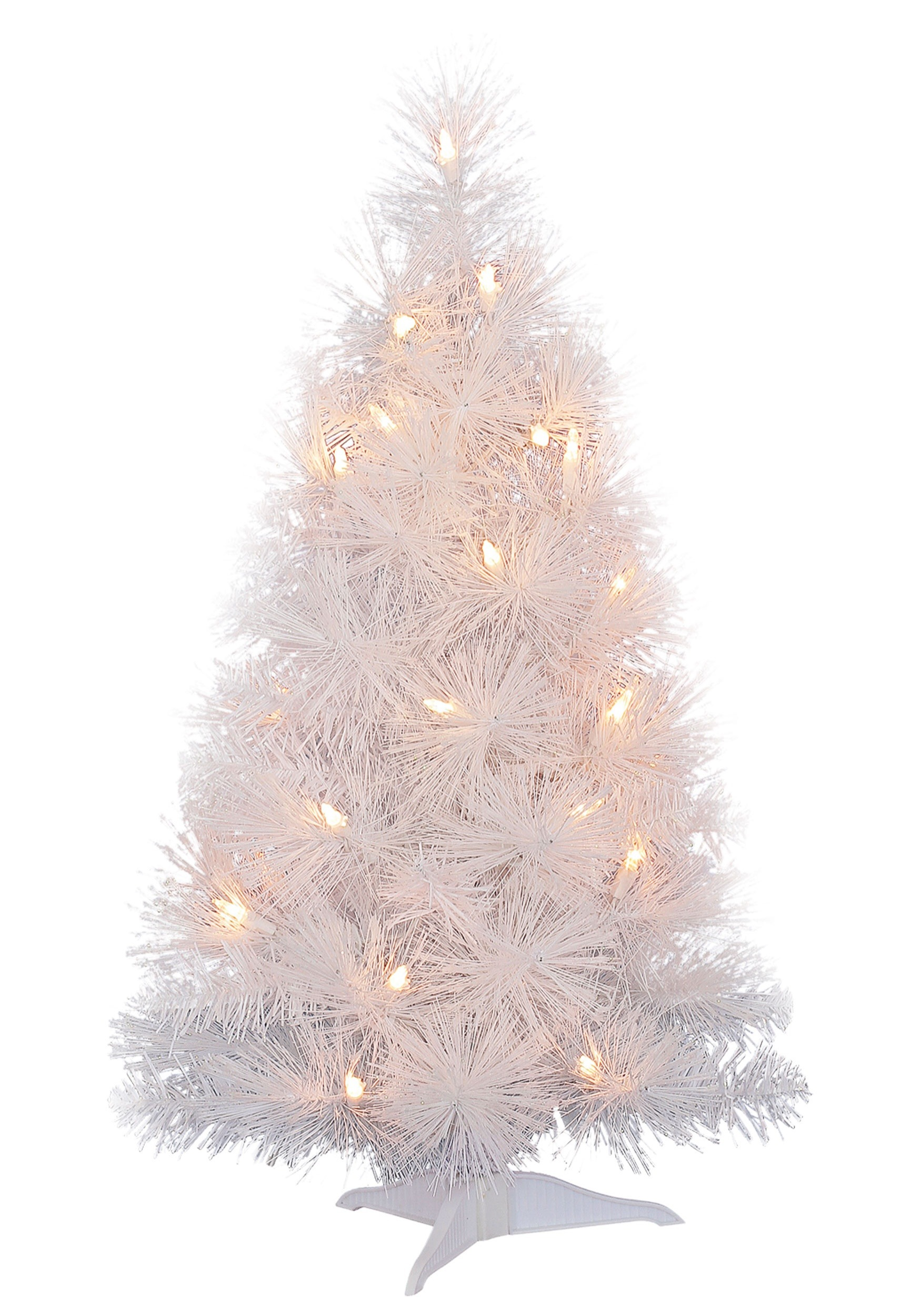 White Christmas 24 Quot Iridescent Tree With Lights