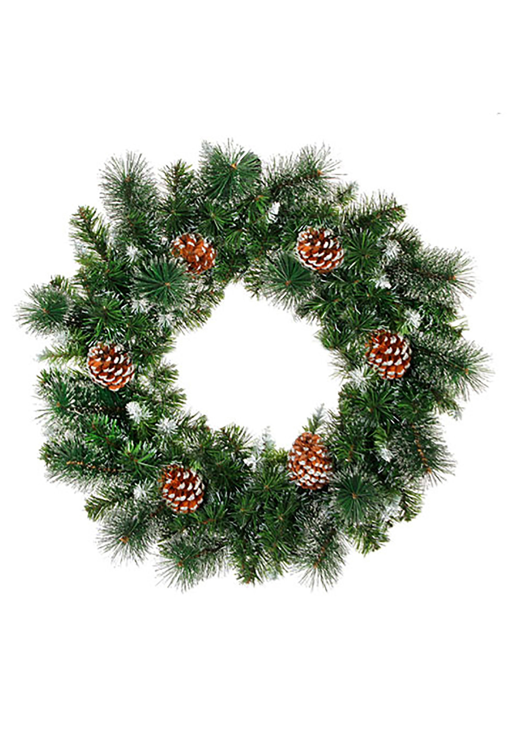 24 Quot Christmas Wreath With Pinecones