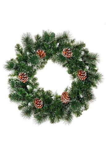 "24"" Pine Cone Christmas Wreath"