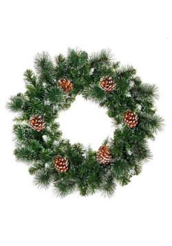 "24"" Pine Cone Christmas Wreath"