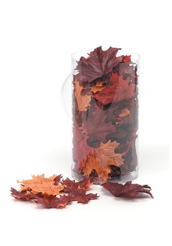 100 Silk Screen Maple Leaves in Canister