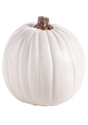 "Carvable 9"" Artificial Cream/White Pumpkin"