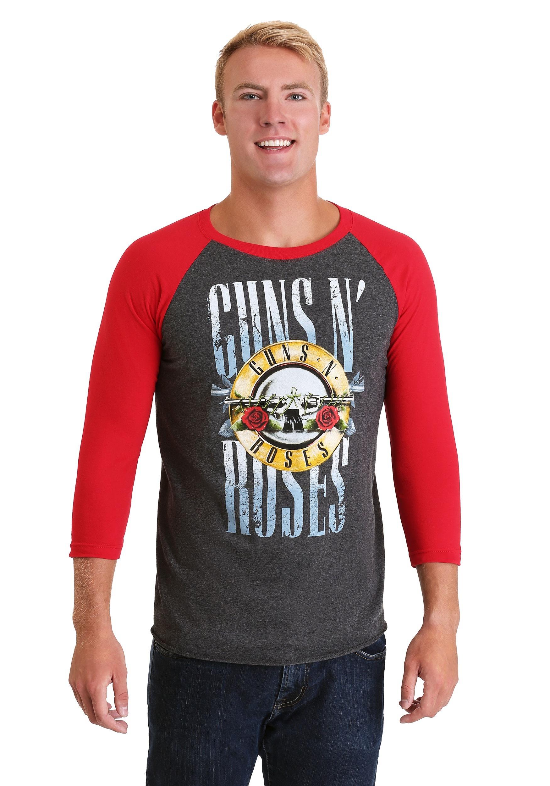 Guns N Roses Stack Logo Men's Raglan T-Shirt