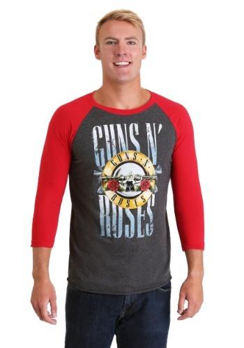 Men's Guns N Roses Stack Logo Raglan T-Shirt