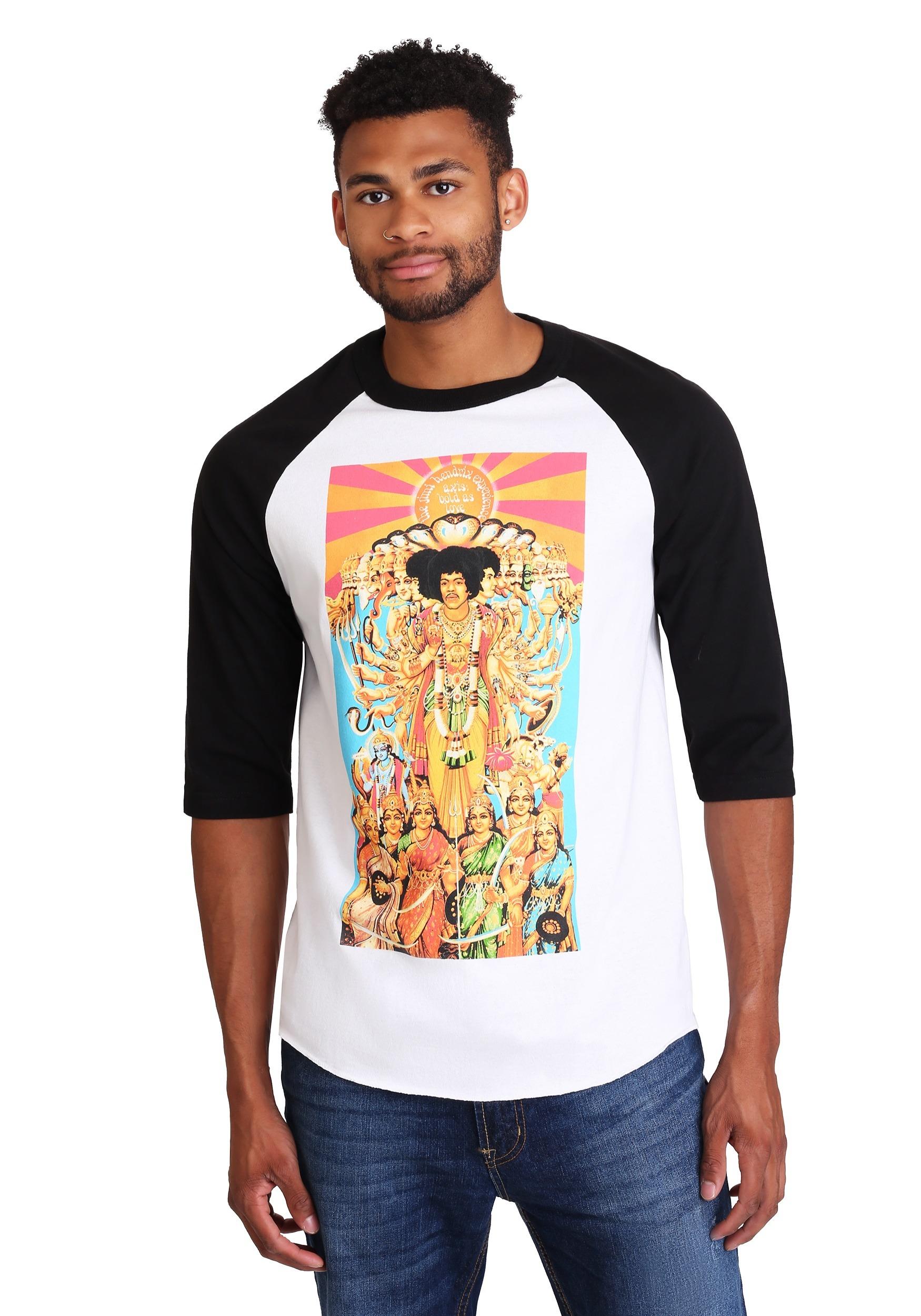 Jimi Hendrix Raglan Elevated Print Raglan Shirt