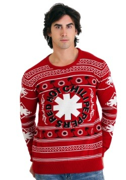 Red Hot Chili Peppers- Palm Trees Ugly Christmas Sweateralt1
