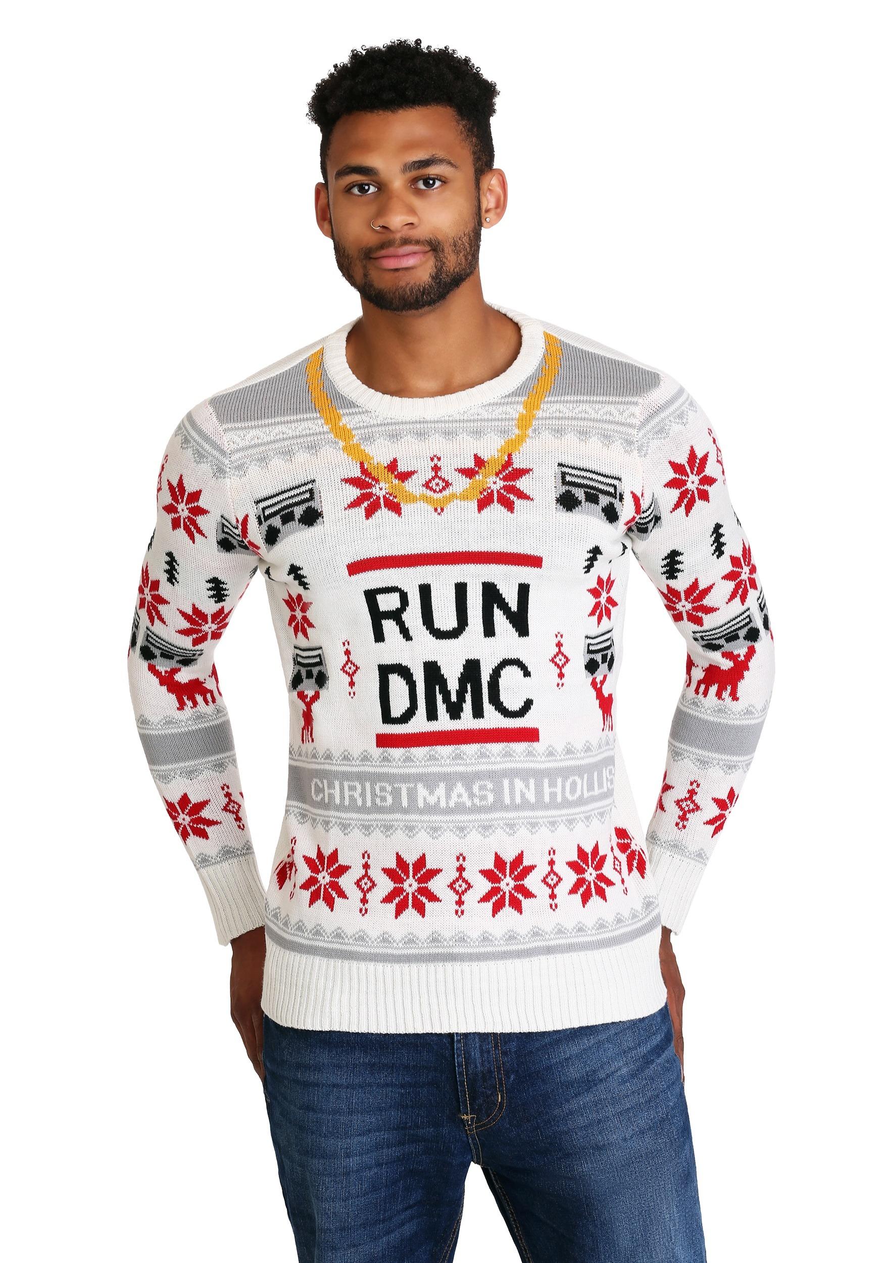Run Dmc Christmas.Run Dmc Chain Ugly Christmas Sweater