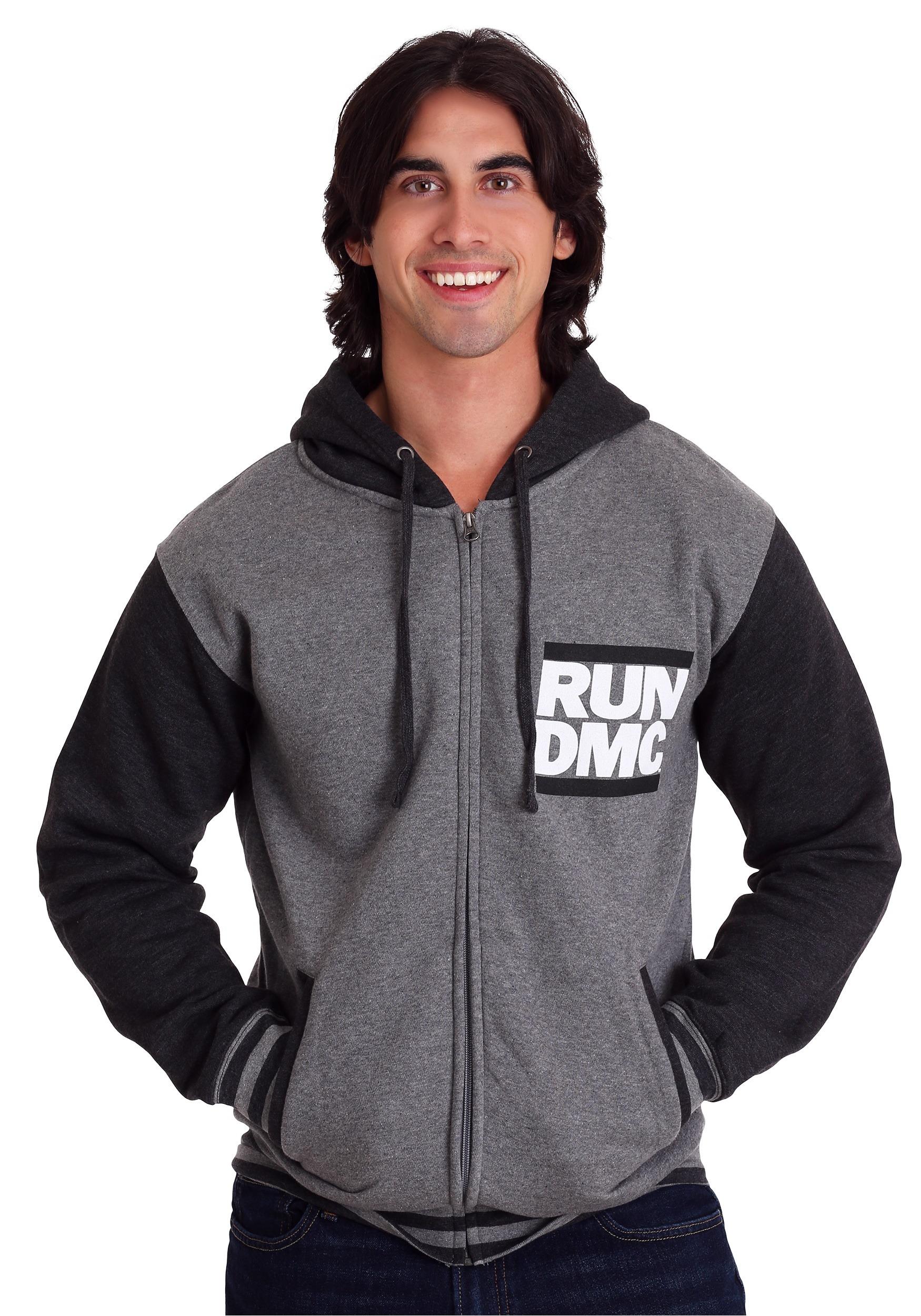 RUN DMC Logo Men's Varsity Hoodie