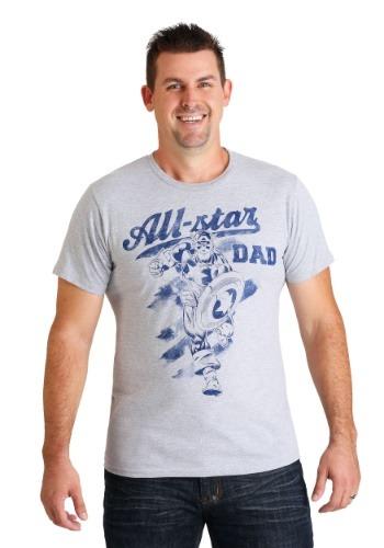 Marvel Captain America All-Star Dad Men's T-Shirt
