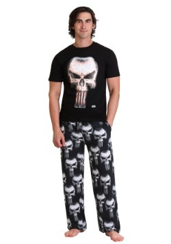 Marvel Punisher Skull Mens 2 Piece Sleep Set