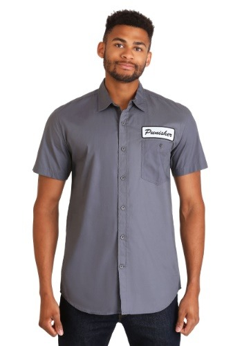 Marvel Punisher One Man Army Men's Button Up Shirt