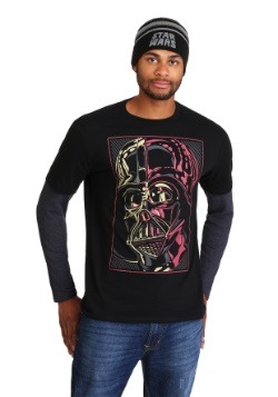Star Wars Darth Vader Mens Long Sleeve Shirt and Beanie