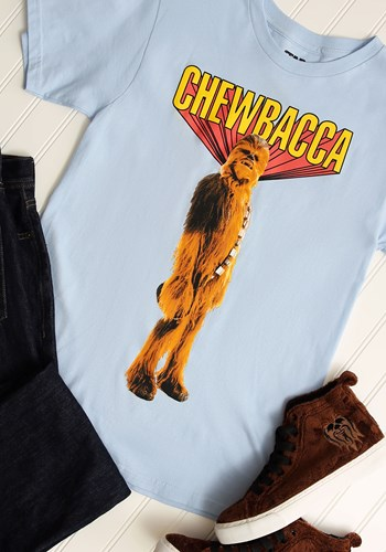 Chewbacca! Mens Light Blue T-Shirt Update