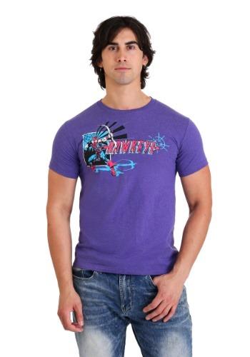 Avengers Hawkeye Mens Purple T-Shirt