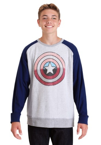 Marvel Captain America Shield Grey/Navy Fleece Pullover