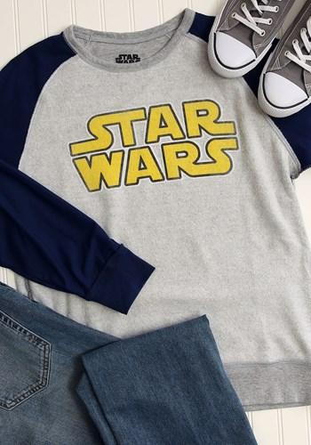 Star Wars Logo Grey/Navy Fleece Pullover Update