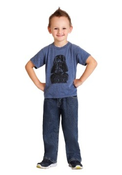 Toddler Darth Vader Navy Burnout T-Shirt
