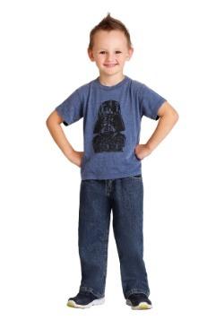 Toddler Darth Vader Navy Burnout T-Shirt
