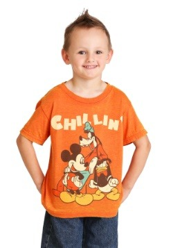 Disney Mickey Mouse Chillin Trio Boys Orange T-Shirt update