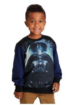 Boys Darth Vader Star Wars Space Battle Long Sleeve Crew Swe