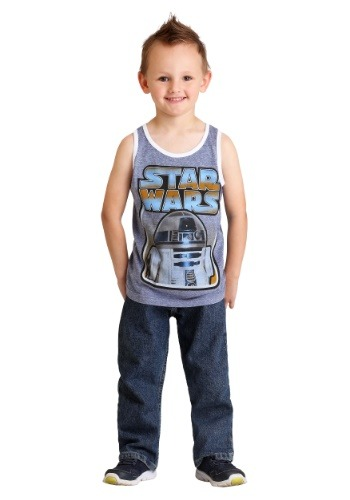 Star Wars R2-D2 Navy Snow Heather Boys Tank