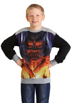 Boys Star Wars Darth Vader Looming Over Planet Sweater
