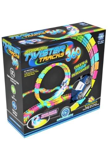 Neon Glow Twister Tracks 360 Loop w/ Light up Vehicle