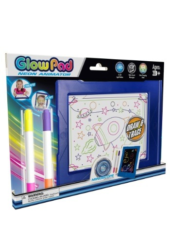 Mindscope Glow Pad Blue Light Up Writing Board Update1
