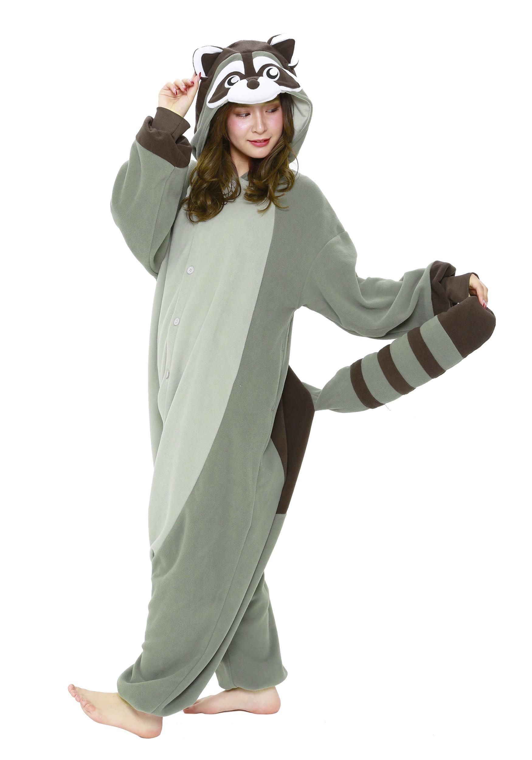 raccoon kigurumi costume