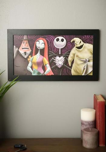 "Nightmare Before Christmas Group 8""x12"" Framed MDF"