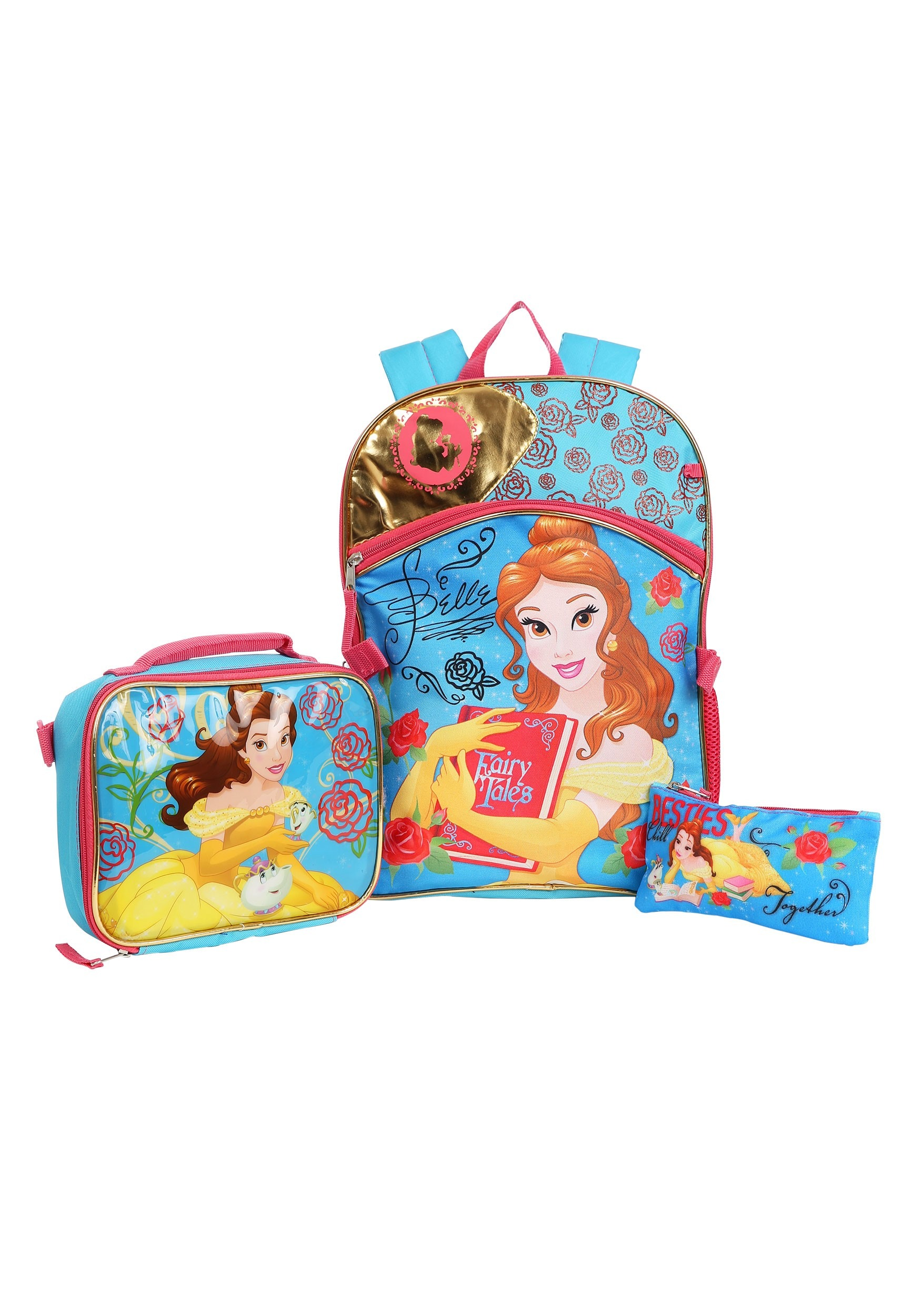 Disney Beauty   the Beast Belle Backpack 3-Piece Set