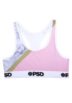 PSD Underwear Pink Marble Sports Bra for Women