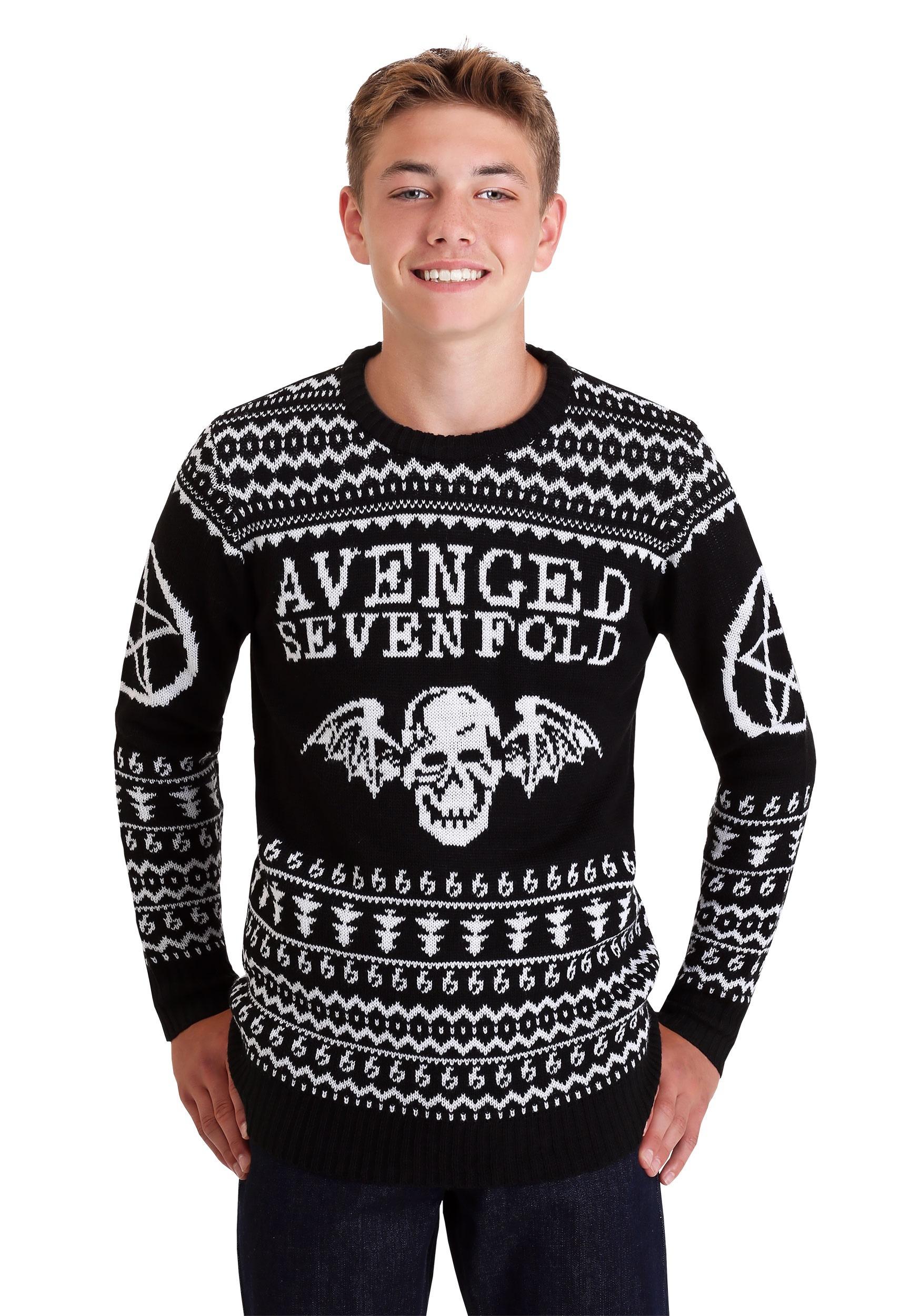 Christmas Ugly Sweater.Avenged Sevenfold Ugly Christmas Sweater