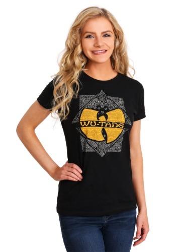Wu-Tang Clan Paisley Square Logo Junior's T-Shirt