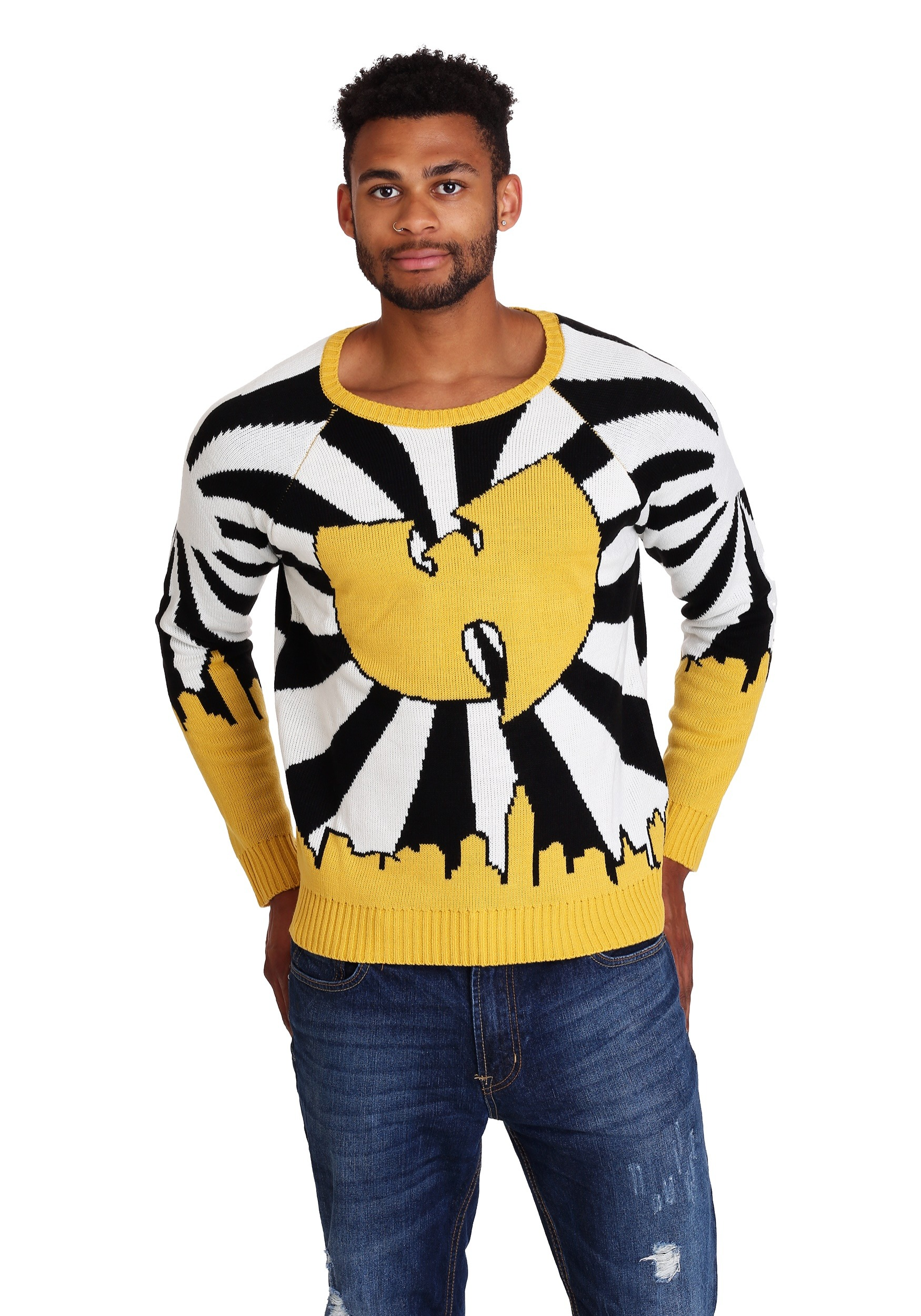 Mens Wu Tang Clan Logo Ugly Christmas Sweater