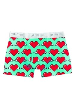 Two Left Feet Love is in the Air Hearts Print Mens Boxers