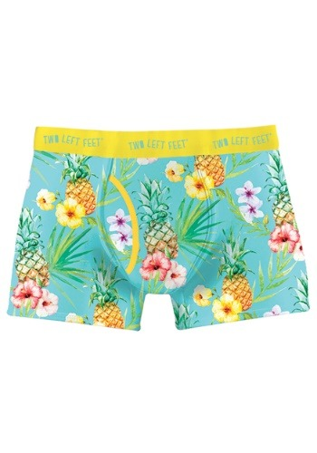 Two Left Feet Island Paradise Tropical Print Men's Trunk Box