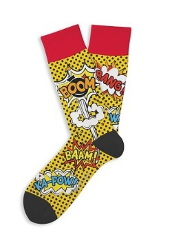 Two Left Feet Comic Print Adult Socks