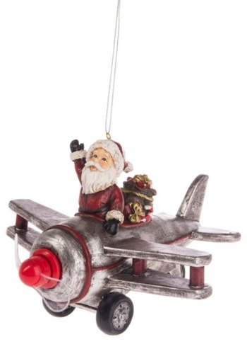 Santa's Ride Airplane Light Up Ornament Update1