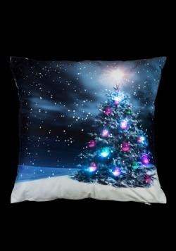 "Moonlight Christmas Tree 16"" Pillow w/ LED Lights2"