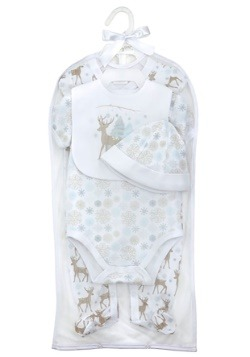 Winter Woodland Deer Layette Set
