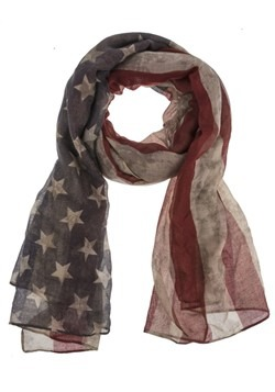 Light Weight Vintage American Flag Scarf