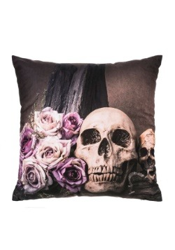 "Skull 16"" Pillow with LED Lights"