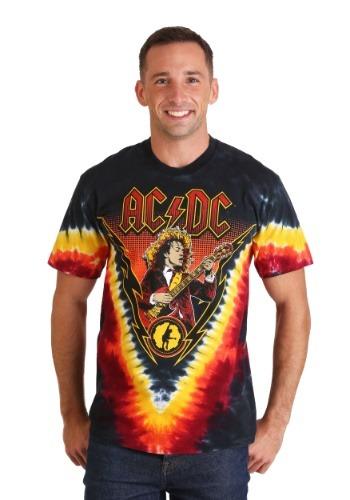 Mens AC/DC Angus Lightning Tie-Dye T-Shirt