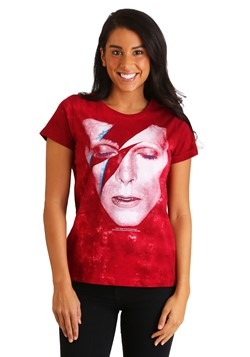 Womens David Bowie Aladdin Sane Tie-Dye T-Shirt