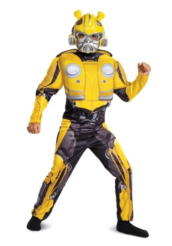 Bumblebee Movie Child Bumblebee Muscle Costume