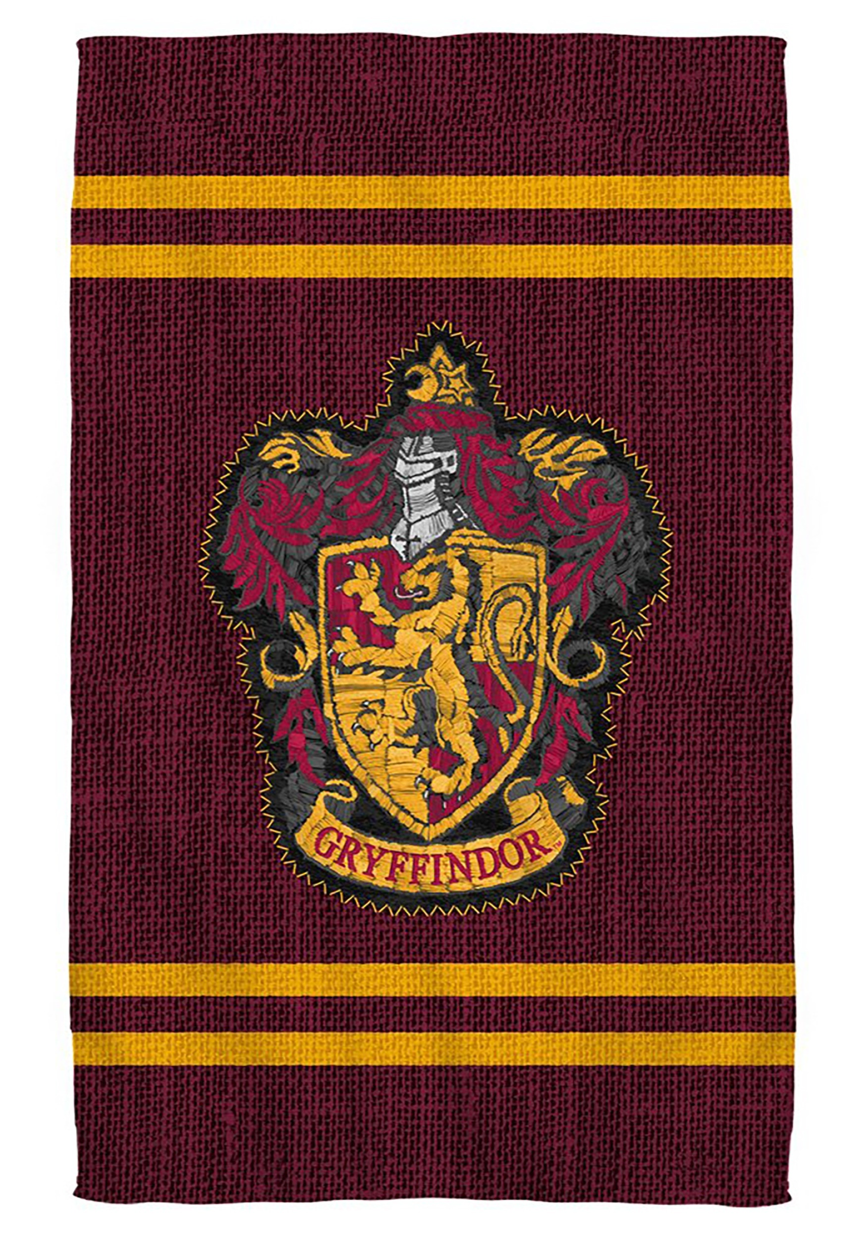 Bath Towel Harry Potter Gryffindor Stitch Crest