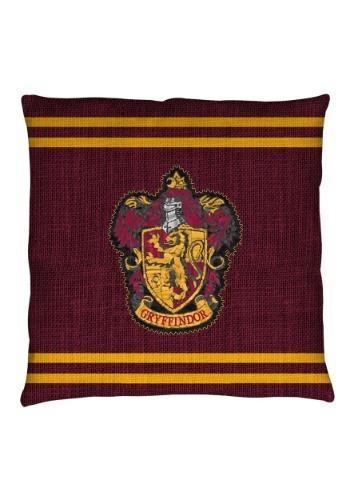 """Harry Potter Gryffindor Stitch Crest 14"""" x 14"""" Throw Pillow"""