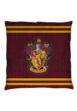 "Harry Potter Gryffindor Stitch Crest 14"" x 14"" Throw Pillow"